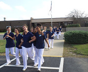 KACC's C.N.A. Training Students walking to their Bus to go to Manteno Veteran's Home