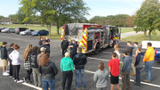 Firemen with KACC Students
