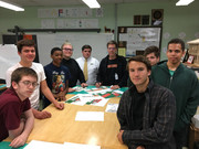 Drafting Students with Mr. Wilkey from Peddinghaus