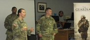 Staff Sgt Clayton addresses students with Sgt. McCall and Staff Sgt Crissey.