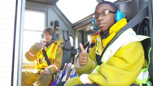 Two Fire-Rescue-EMS Students acknowledge a great class.