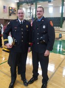 Aaron and Noah Hubly, sons of fallen firefighter, Chief Matthew Hubly.  Not only was Chief Hubly with the Kankakee Township Fire Protection District, he served as a Fire-Safety Instructor here at KACC.