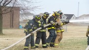 Apparatus Training with Water Hoses