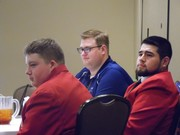 Picture of Logan Charbonneau, Chris Anderson, who is the Director of SkillsUSA and Jose Cabrera