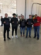 Students taking tour of Parkland College Auto Technology Program.