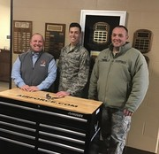 Principal Guerin is delighted to accept the US Air Force's Donation of this Workbench/Tool Storage Cabinet.