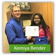 Picture of Kemiya Bender with Mr. Papineau
