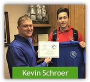 Picture of Kevin Schroer with Mr. Papineau