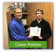 Picture of Conor Ponton with Mr. Papineau