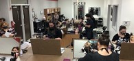 Picture of Cosmetology Students taking their first of two-day Practical Exam